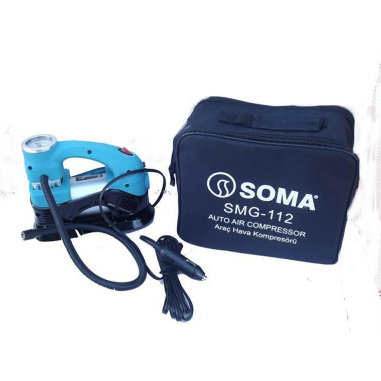 SOMA SMG-112 Araç Hava Kompresörü Çakmak Girişli 12V 120 W
