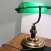 Banker Masa Lambası Eskitme Taban Yeşil Camlı