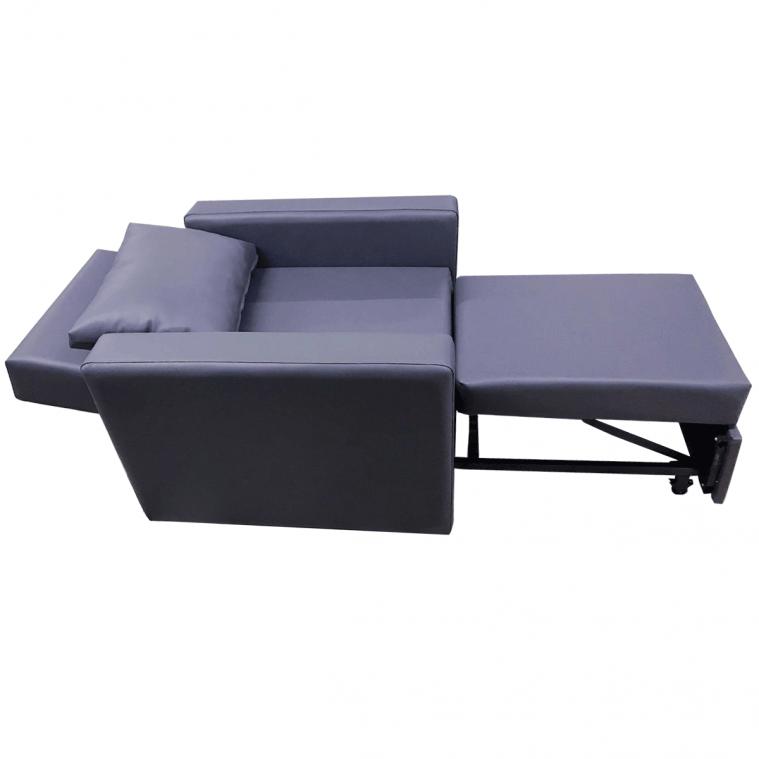 Ofisel Soft Refakatçi Koltuğu, Ayak Uzatmalı Tv Koltuğu Gri-Siyah