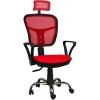 Bürocci Arya Fileli Çalışma Koltuğu-Kırmızı File - 2277A0545
