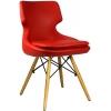 Bürocci Zaga Cafe Koltuğu - Kırmızı Deri - 2023G0116