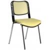 Bürocci Fileli Kromajlı Form Sandalye - Hardal - 2016P0544
