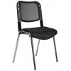 Bürocci Fileli Kromajlı Form Sandalye - Siyah - 2016P0541
