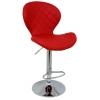 Boombar Teksas Bar Sandalyesi - Kırmızı Deri - 9566S0116