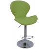 Boombar Teksas Bar Sandalyesi - Yeşil Deri - 9566S0110