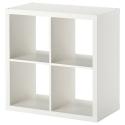 KALLAX 4 bölmeli raf ünitesi, beyaz, 77x39x77 cm