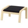 POANG ayak uzatma taburesi, huş kaplama-knisa siyah 68x54x39 cm