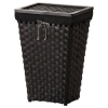 KNARRA çamaşır sepeti, siyah-kahverengi, 38 lt