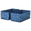STORSTABBE kutu, mavi-beyaz, 20x37x15 cm