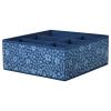 STORSTABBE bölmeli kutu, mavi-beyaz, 37x40x15 cm