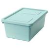 SOCKERBIT kapaklı kutu, açık mavi, 38x25x15 cm