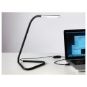 HARTE led'li çalışma lambası, siyah-lame