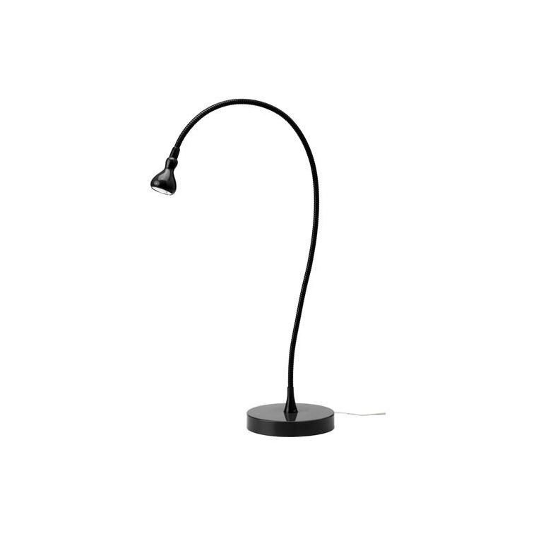 JANSJÖ LED'li çalışma lambası, siyah, 60 cm