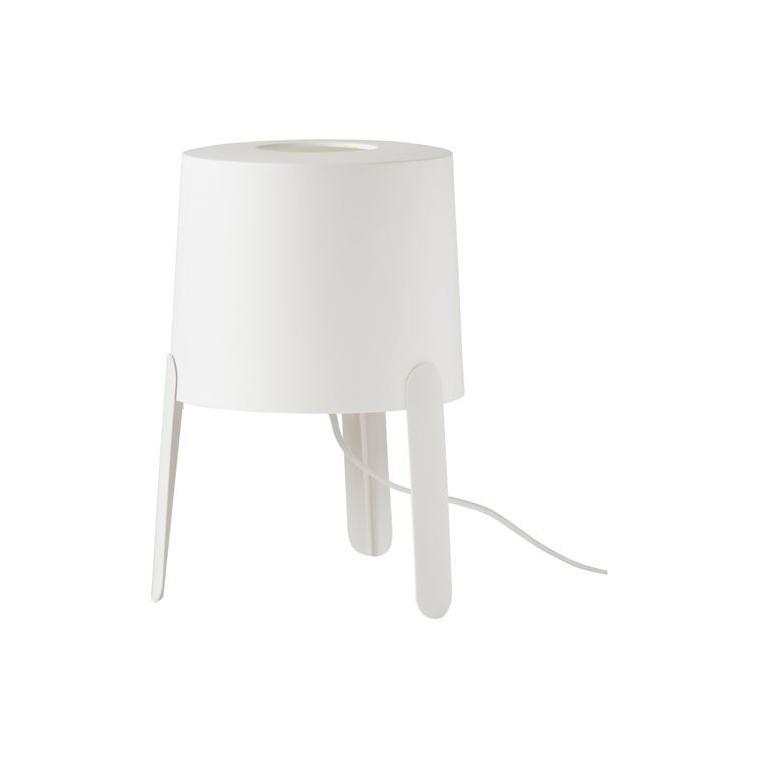 TVARS masa lambası, beyaz