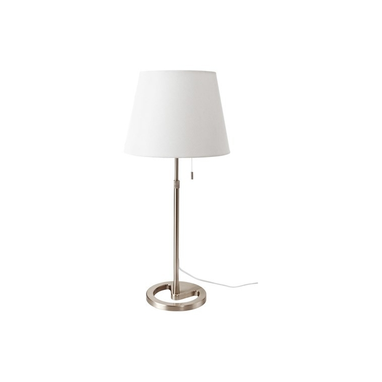 NYFORS masa lambası, nikel kaplama-beyaz