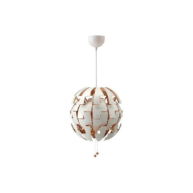 IKEA PS 2014 sarkıt lamba, beyaz-bakır rengi