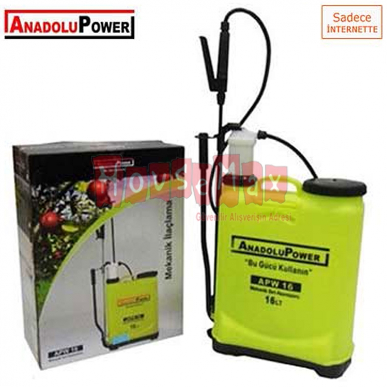 Anadolu Power APW-16A Akülü 16 Litre İlaçlama Pompası